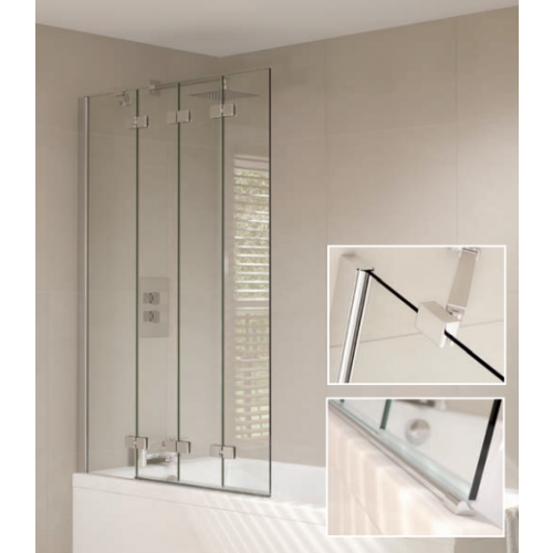 April Prestige Frameless 4 Fold bath screen