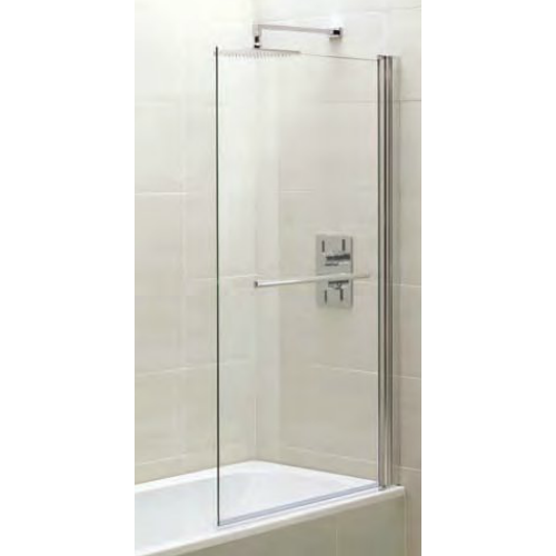 April Identiti2 Square single Bath screen with towel rail 1400 x 800mm