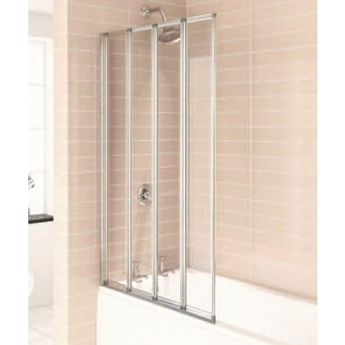 Citylux Aqua 4 folding Bath Screen CHROME