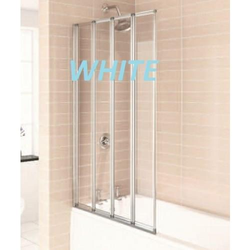 Citylux Aqua 4 folding Bath Screen WHITE