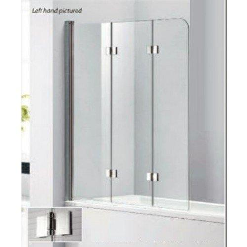 Citylux Frameless 3 Fold Bath Screen LEFT HAND