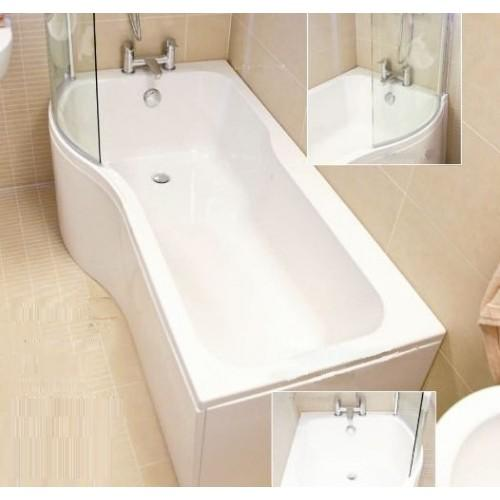 Bathroom Solutions P Shaped Shower Bath Pack 1700 X 850/700 Left Hand