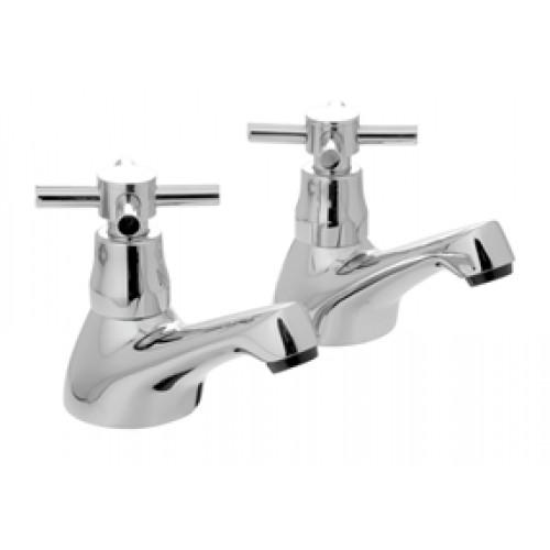 Vado vecta pair of bath pillar taps