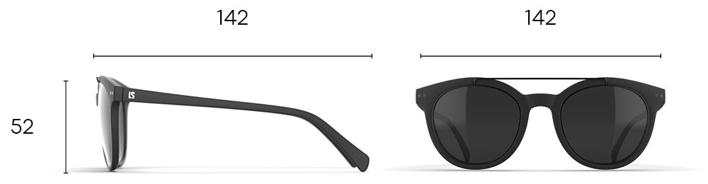 Dimensions des lunettes Loubsol Tennessee