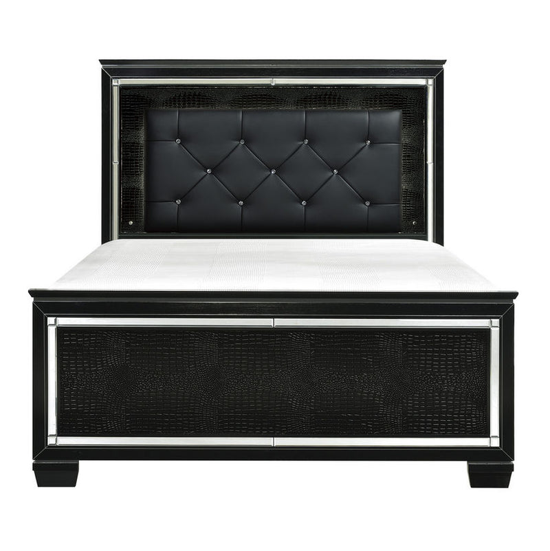 Homelegance Allura King Panel Bed in Black 1916KBK-1EK* image