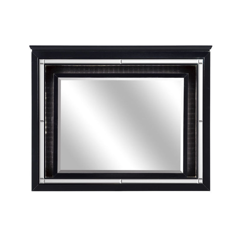 Homelegance Allura Mirror in Black 1916BK-6 image
