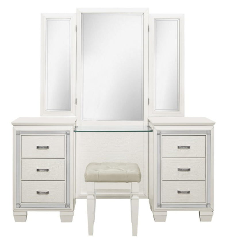 Homelegance Allura Vanity Dresser with Mirror in White 1916W-15* image