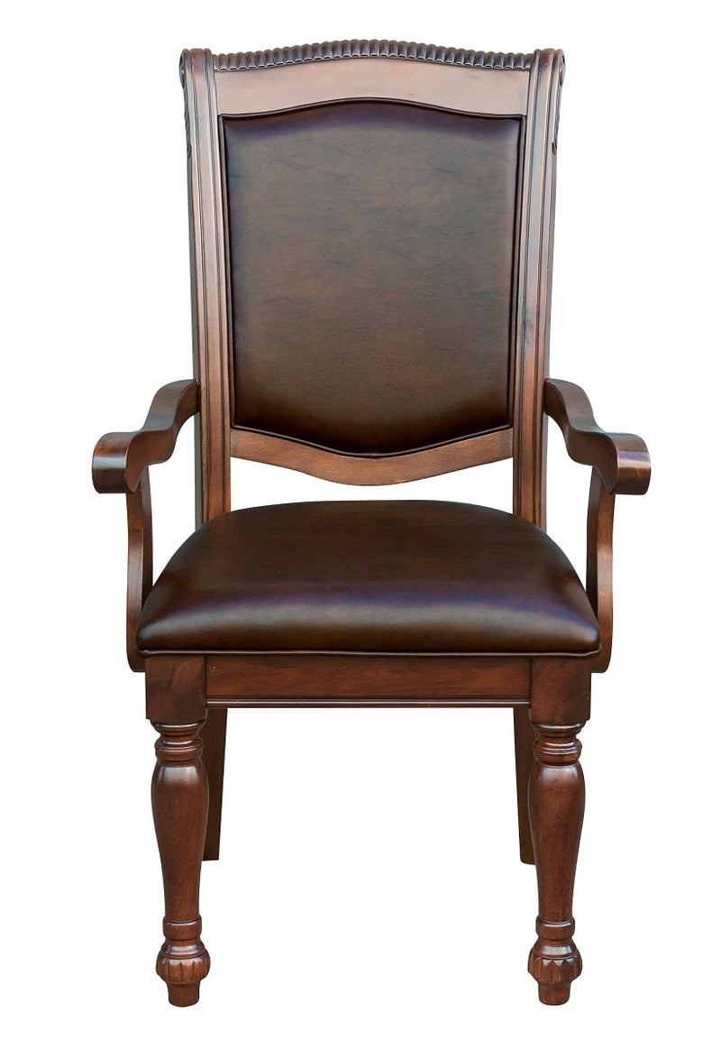Homelegance Lordsburg Arm Chair in Brown Cherry (Set of 2) image