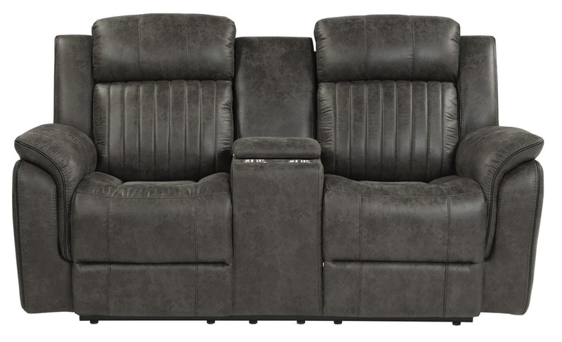 Homelegance Furniture Centeroak Double Reclining Loveseat in Gray 9479BRG-2 image