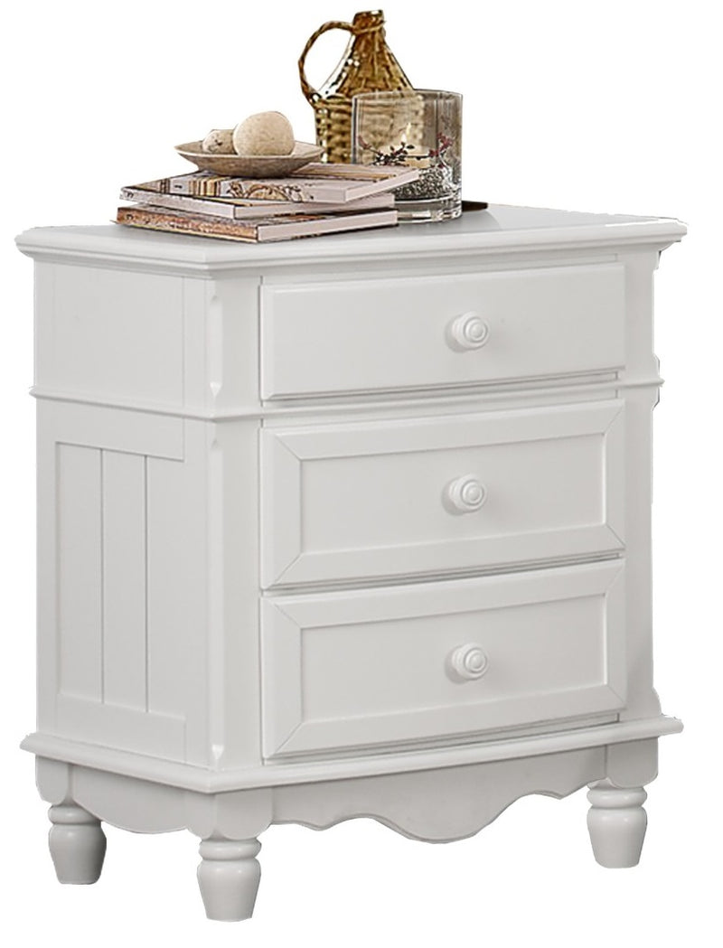 Homelegance Clementine 3 Drawer Night Stand in White B1799-4 image