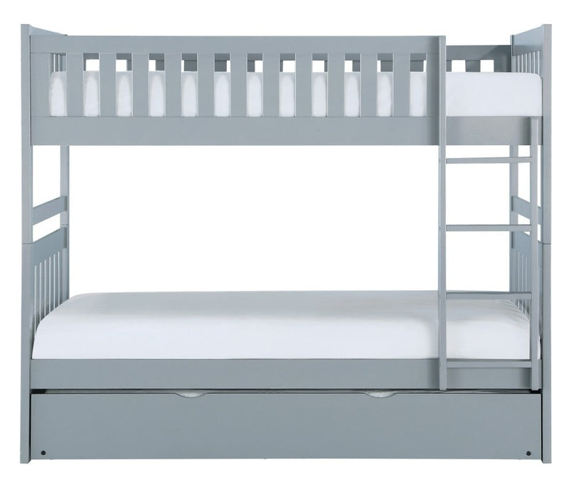 Homelegance Orion Twin/Twin Bunk Bed with Trundle in Gray B2063-1*R image
