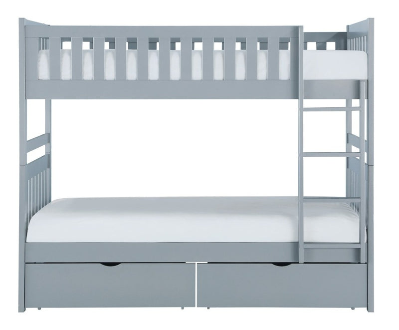 Homelegance Orion Twin/Twin Bunk Bed with Storage Boxes in Gray B2063-1*T image