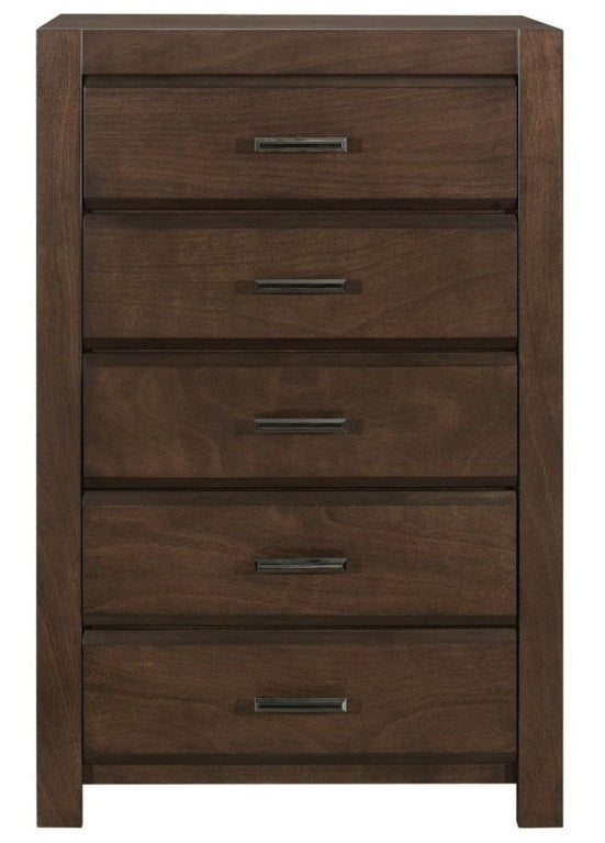 Homelegance Furniture Erwan 5 Drawer Chest in Dark Walnut 1961-9 image