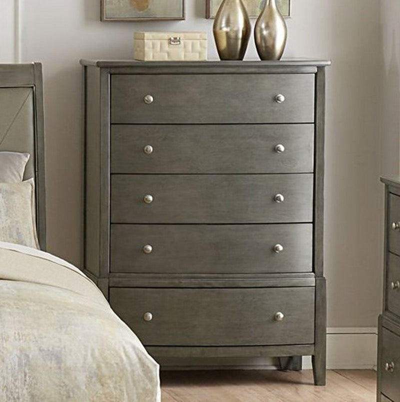 Homelegance Cotterill 5 Drawer Chest in Gray 1730GY-9 image
