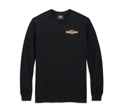 Patina Sixties Bar & Shield Logo Long Sleeve Tee