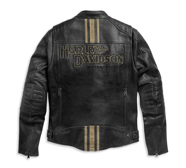 Harley-Davidson® Men's Triple Vent Passing Link II Leather Jacket