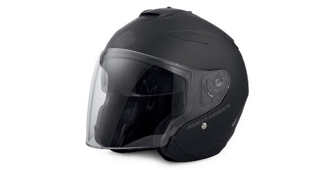 Harley-Davidson® Maywood Sun Shield 3/4 Helmet Matt Black