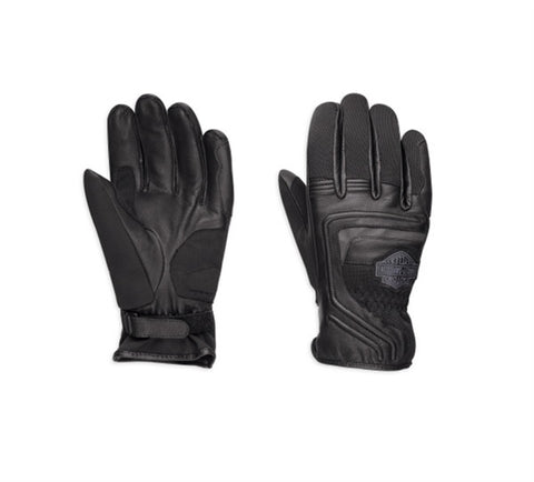 Harley-Davidson® Bar & Shield Logo Leather & Mesh Gloves