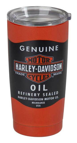 Harley-Davidson® Oil Can Stainless Steel Insulated Travel Mug - 20 oz.