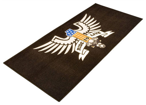 Motorcycle Garage Mat 'Live To Ride' 190 x 80cms