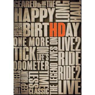 Harley-Davidson Verbiage - Birthday Card
