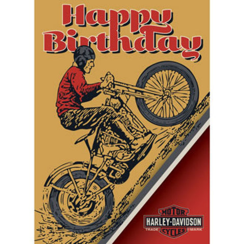 Harley-Davidson Not Over The Hill - Birthday Card