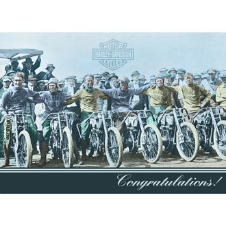 Harley-Davidson® You Did It - Congratulations Card