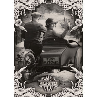 Harley-Davidson® Just Hitched - Wedding Card