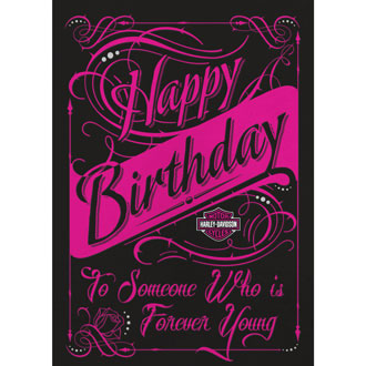 Harley-Davidson Forever Young - Birthday Card