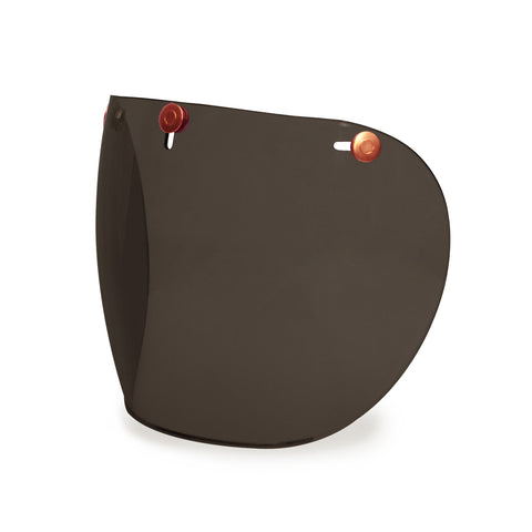 Hedonist Dark Smoke Shield Visor Copper Snaps