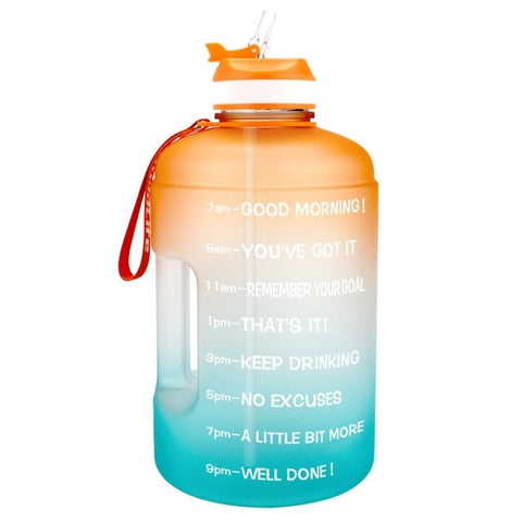 128oz Gallon Water Bottle with Straw Clear Plastic Drinking Bottles GYM Tool Jug BPA Free Sports Cup
