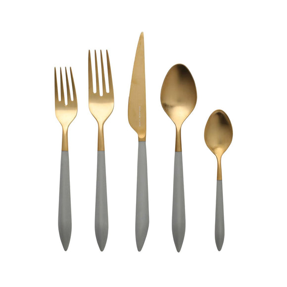 Ares Oro Lt Gray 5 pc Place Setting