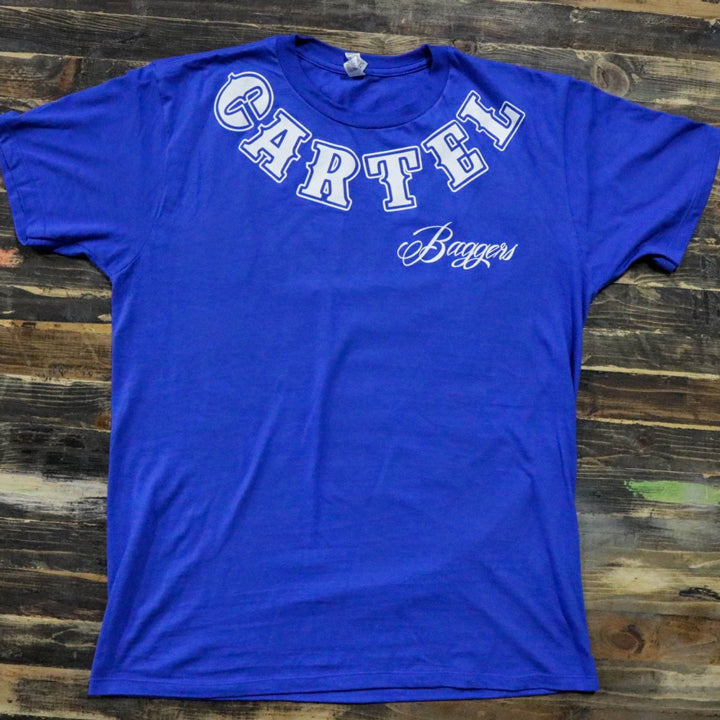 Cartel_Baggers_RoyalBlue_Mens_Tee_White_Skull_Front