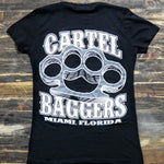 Cartel_Baggers_Black_BrassKnuckles_Ladies_VNeck_Tee