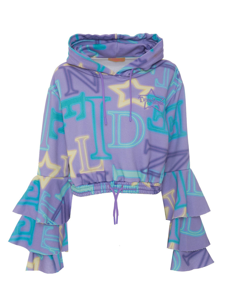 Alfa Cropped Hoodie Lilac