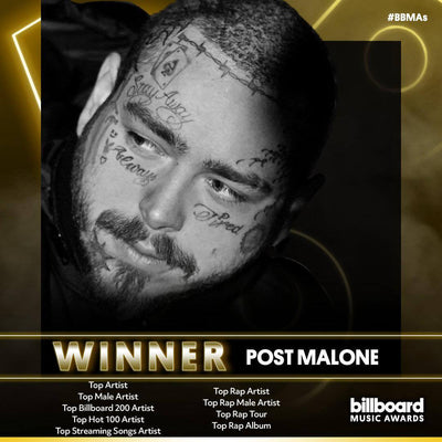 10/15/2020 - POST MALONE WINS BIG WITH 9 BILLBOARD MUSIC AWARDS