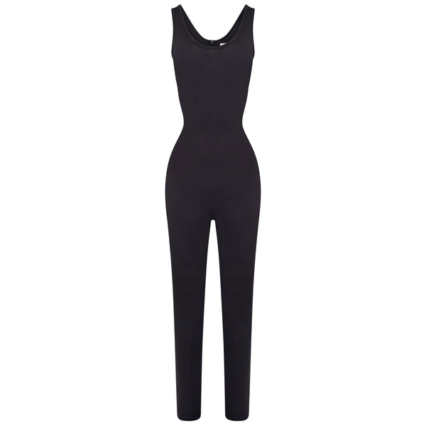 Sculpted Black Jumpsuit