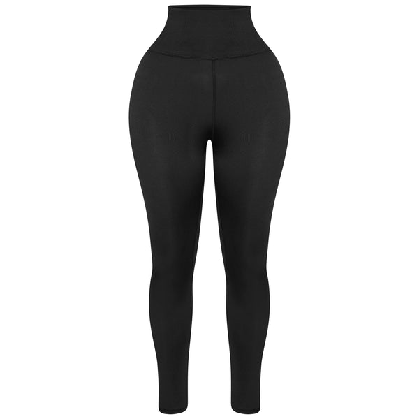 Sculpted Black High Waisted Leggings