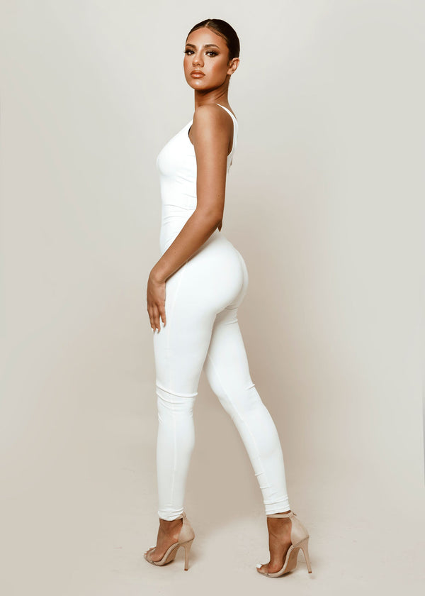 Sculpted White Jumpsuit