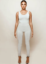 Sculpted Grey Jumpsuit