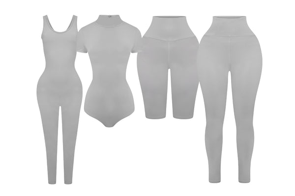Grey Sculpted Everyday Full Pack - Set