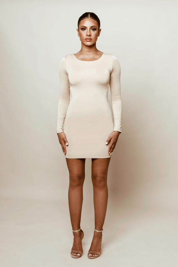 Nude - Contoured Mini Dress