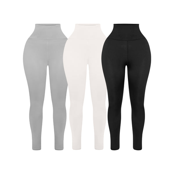 Sculpted High Waisted Leggings - Set of 3