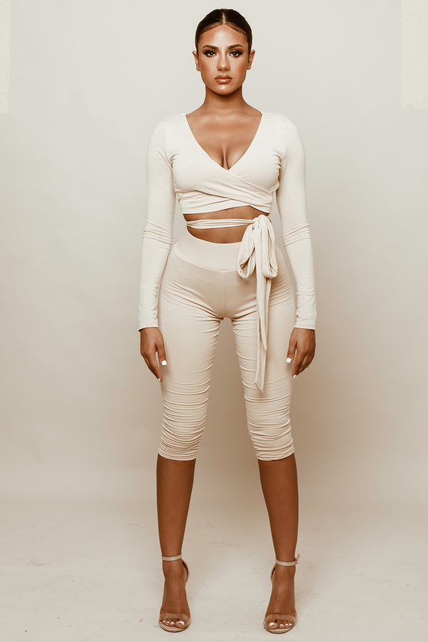 Nude Wrap Two Piece