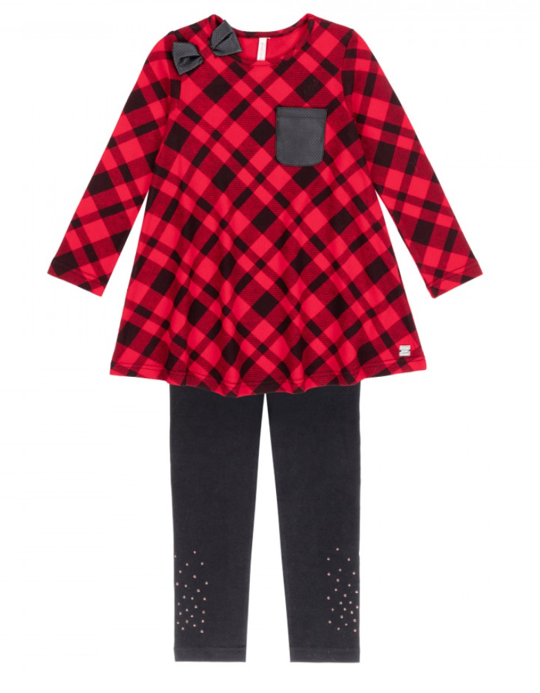DPD Red Plaid Set