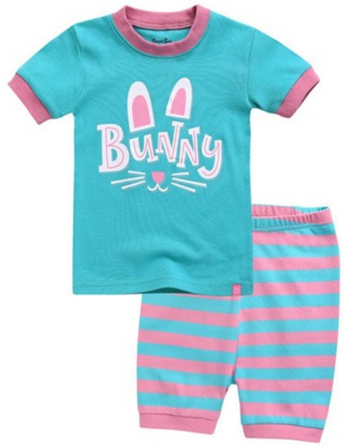 Shorty PJs with a bunny print