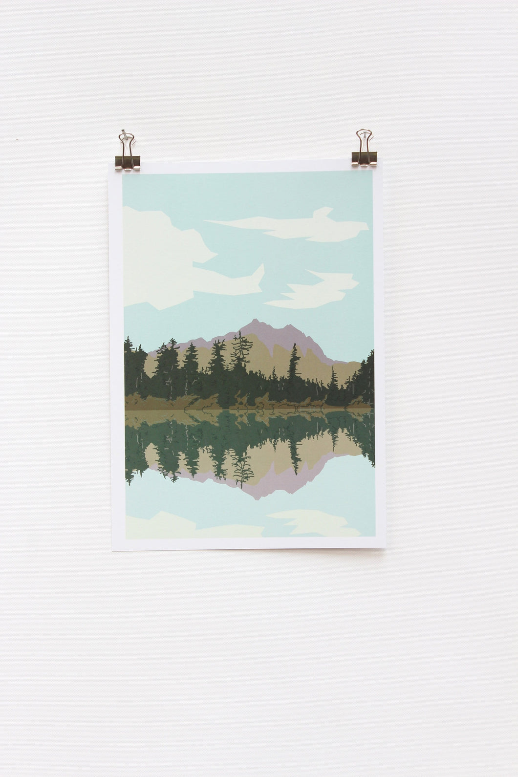 Lake and Mountains A4 Print
