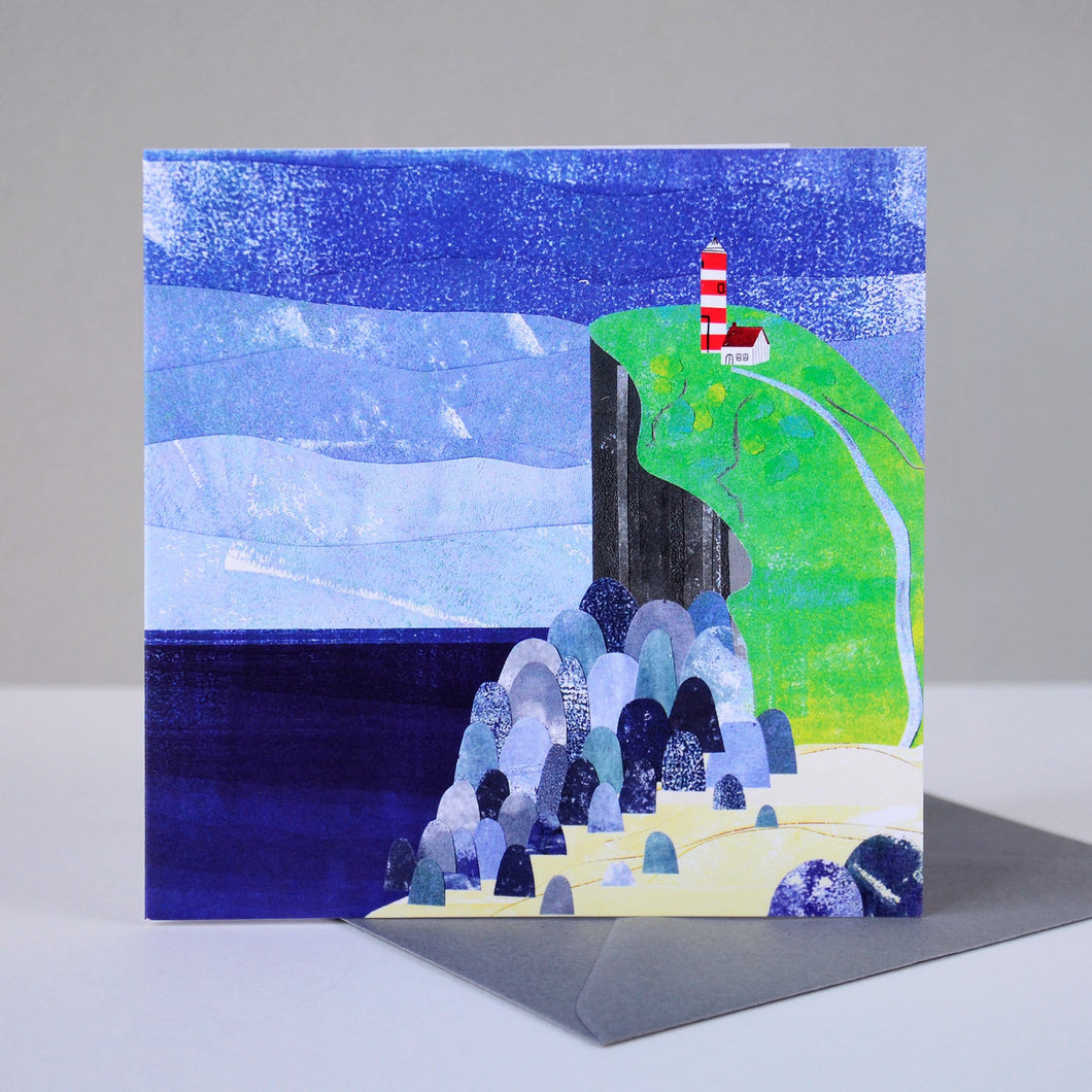 Lighthouse and Cliffs Card