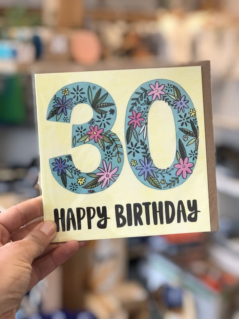 30th Birthday Card - Yellow