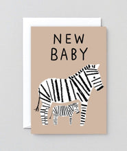 Load image into Gallery viewer, New Baby Zebra Card